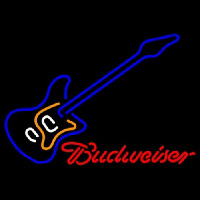 Budweiser Blue Electric Guitar Neon Sign