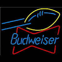 Budweiser Football Bowtie Neon Sign