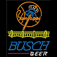 Busch Beer New York Yankees Beer Sign Neon Sign