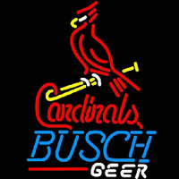 Busch St Louis Cardinals Bat Perch Beer Sign Neon Sign