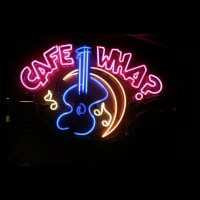 Cafe WHA musica guitarra Neon Sign
