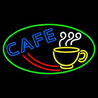 Cafe With Coffee Mug Neon Sign