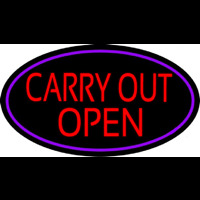 Carry Out Open Neon Sign