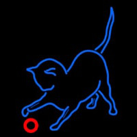 Cat Play With Ball Neon Sign