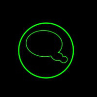 Chat Button 6 Neon Sign