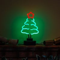 Christmas Tree Desktop Neon Sign