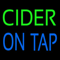 Cider On Tap Neon Sign