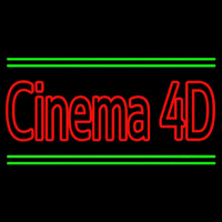 Cinema 4d With Line Neon Sign