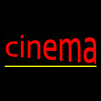 Cinema With Line Neon Sign