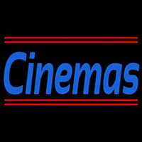 Cinemas With Line Neon Sign