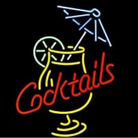 Cocktail And Martini Umbrella Cup Neon Sign