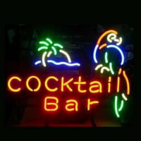 Cocktail Bar Parrot Neon Sign
