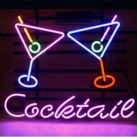 Cocktail Martini Neon Sign