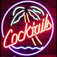 Cocktails Palm Tree Neon Sign