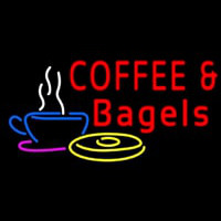 Coffee Bagels Neon Sign