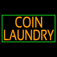Coin Laundry With Green Border Neon Sign
