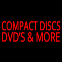 Compact Disc Dvds More 2 Neon Sign