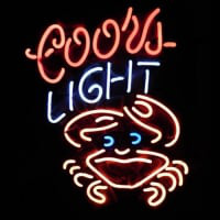 Coors Light Crab Neon Sign