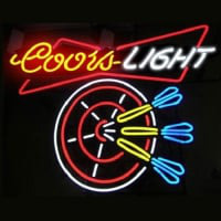 Coors Dart Beer Neon Sign