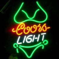 Coors Green Bikini Neon Sign