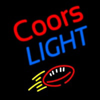 Coors Light Football Beer Neon Sign
