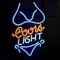 Coors Purple Bikini Neon Sign