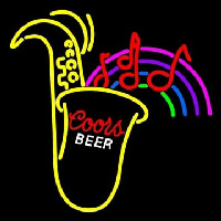 Coors Saxophone Neon Sign