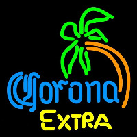 Corona E tra Curved Palm Tree Beer Sign Neon Sign