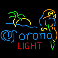 Corona Light Palm Tree Parrot Beer Sign Neon Sign