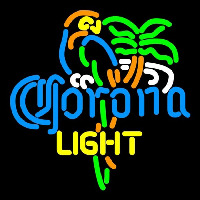 Corona Light Parrot Palm Tree Beer Sign Neon Sign