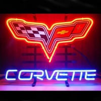Corvette Shop Open Neon Sign