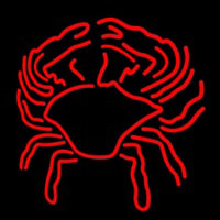 Crab Block With Logo Neon Sign