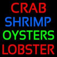 Crab Shrimp Lobster Oyster Neon Sign