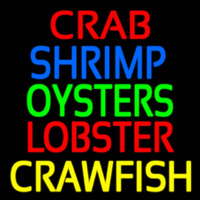 Crab Shrimp Oyster Lobster 1 Neon Sign