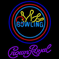 Crown Royal Bowling Yellow Blue Beer Sign Neon Sign