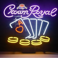 Crown Royal Poker Chips Neon Sign