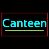 Cursive Canteen With Red Border Neon Sign