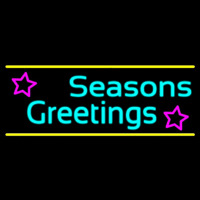 Cursive Seasons Greetings 2 Neon Sign