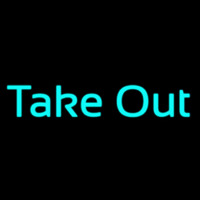 Cursive Take Out Neon Sign