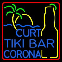 Custom Curt Tiki Bar Corona Logo Neon Sign