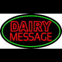 Custom Double Stroke Dairy Neon Sign
