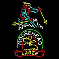 Custom Steamboat Moosehead Beer Neon Sign