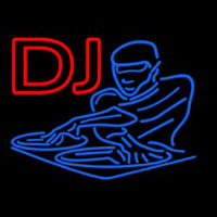 DJ Disc Jockey Disco Music Neon Sign