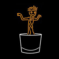 Dancing Boy Logo Neon Sign