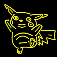 Dancing Pikachu Neon Sign