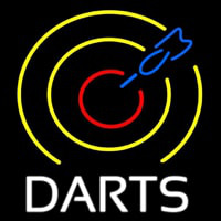 Dart Board Neon Sign