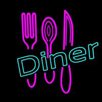 Dinner With Spoon Neon Sign