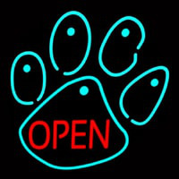 Dog Open Logo Neon Sign