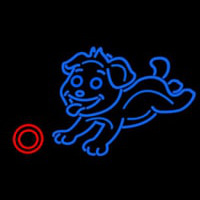 Dog Play With Ball Neon Sign