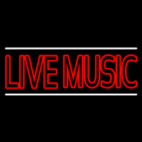 Double Stroke Live Music Neon Sign